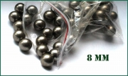 Ocelové kuličky pr.8mm do kuše nebo praku