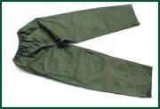 Zelené nepromokavé kalhoty pro rybáře použité