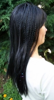 Paruka dlouhé černé vlasy s dredy 19