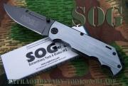 Masivní zavírák SOG stříbrný 21,5cm