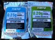 Kuličky Airsoft TINTO výběr 0,2g nebo 0,25g