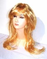 Paruka dlouhé světlé stuňovitě stříhané sláma blond vlasy (3)
