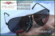 Černé sluneční brýle pilotky od PILOT © Polycarbon s UV filtere