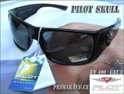 Černé sluneční brýle PILOT © model: Skull AP7101171 s UV filte