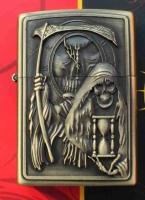Benzinový zapalovač Smrtka s kosou styl zippo