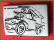 Benzinový zapalovač Panzerspahwagen německý 2WV automobil styl z