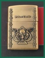 Benzinový zapalovač Poker Cards píky (spades) styl zippo