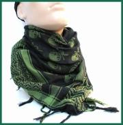 Bavlněný šátek PLO - s lebkami MFH Int.Corp.