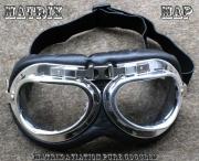 Retro brýle na motocykl - MAP -Matrix Aviation Pure