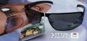 Černé tmavé brýle zrcadlovky PILOT © s UV filterem, model: AM610