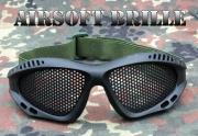 Brýle na airsoft černé -kovová mřížka
