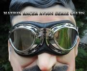 Veterán moto brýle Clubs- zrcadlovky
