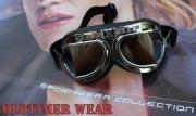 Veterán moto brýle Lomená skla - zrcadlovky