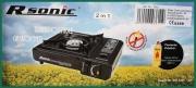 Kufříkový kempingový plynový vařič R Sonic s vývodem na bombu