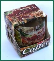 Aroma svíčka Adpal vůně Coffee Romano. Vůně: Káva.
