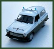 Kovový model Trabant 601 kombi Volks polizei 1:43