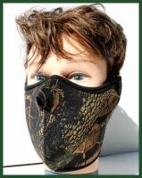Obličejová maska ochrana - kryt tváře - Maskování podzimní les