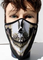 Obličejová maska ochrana - kryt tváře - kostlivec