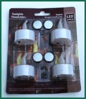 Sada 4 elektrických čajových svíček
