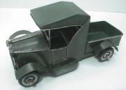 Plechový model pick-up veterána-zelený K1