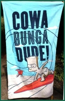 Originální osuška Bart Simpson Cowa Bunga Dude!