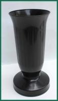 Hřbitovní váza kalich černá