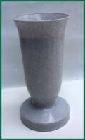 Hřbitovní váza kalich šedá